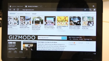 Tabbed browsing in Android 3.0 Honeycomb on the Motorola Xoom