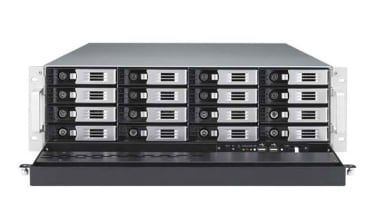 The Thecus N16000's 16 disk trays