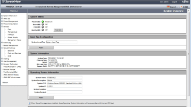 Server power can also be fully controlled from the remote web interface.