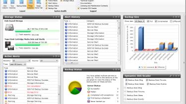 Symantec Backup 2012 - Home page