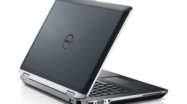 The metal lid of the Dell Latitude E6420.