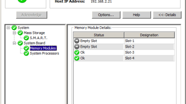 The ServerView System Monitor only provides very basic information about critical components...