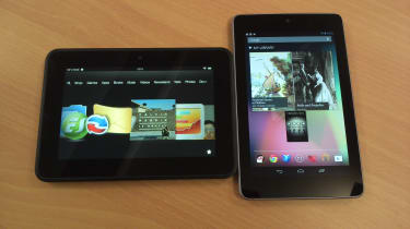 Kindle Fire HD vs Google Nexus 7 - Homescreen