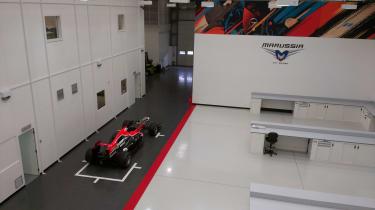 Marussia F1 Garage