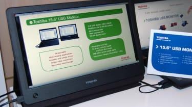 """Toshiba 15.6"""" USB Mobile LCD Monitor"""