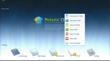 The useful Polaris Office comes pre-installed on the Samsung Galaxy Tab 10.1.
