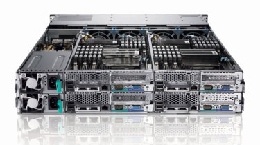 The rear of the Dell PowerEdge C6100