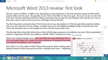 Word 2013 - Inked notes