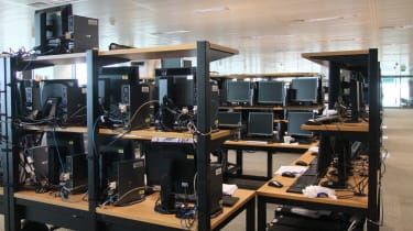 One of the countless cells, or collection of computers dedicated to a single event or other purpose, ready for testing at the