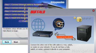 Buffalo provides plenty of graphical assistance for TeraStation installation.