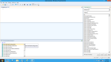 Intellisense and Autocomplete in the PowerShell ISE.