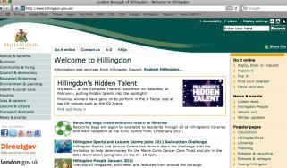 Hillingdon Council website