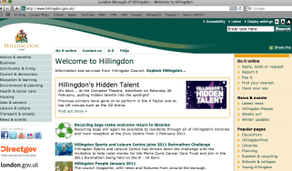 Hillingdon Council website