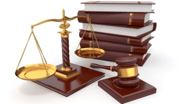 Justice scales and books