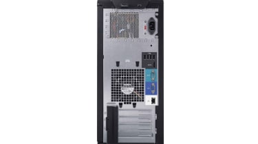 The rear of the Dell PowerEdge T110 II.