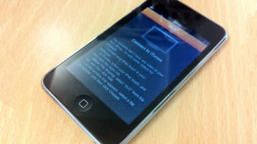 The VLC app on the iPod Touch