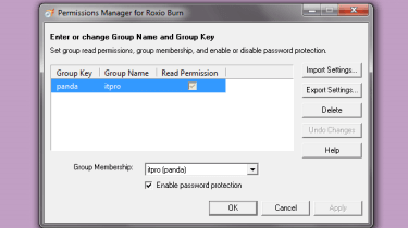 The Permissions Manager is where you set user account details and security policies