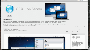 Lion Server is available only as a download through the Mac App Store.