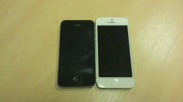 iPhone 4 vs iPhone 5 - Size comparison