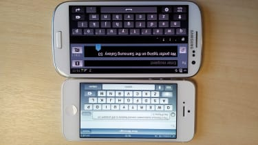Samsung Galaxy S3 vs Apple iPhone 5 - Keyboard