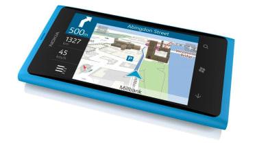The Nokia Drive app on the Lumia 800