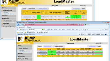 Real-time statistics for both real and virtual servers can be viewed from the web console.