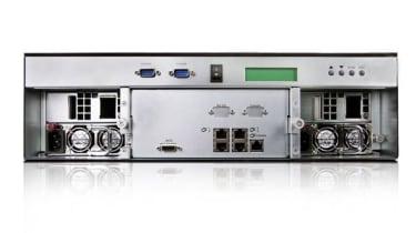 The rear of the Enhance UltraStor RS16 IP-4