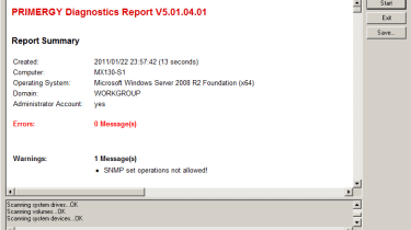 …while Fujitsu's diagnostics tool is equally devoid of features.