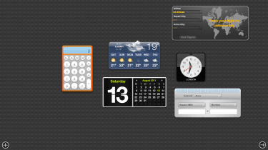Dashboard gives you access to Widgets and it's a bit cleaner than the Windows 7 Gadgets.