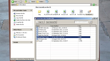 A Windows-only disc reader program is automatically burnt onto every disc