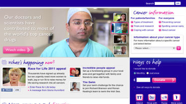 Cancer Research UK website home page