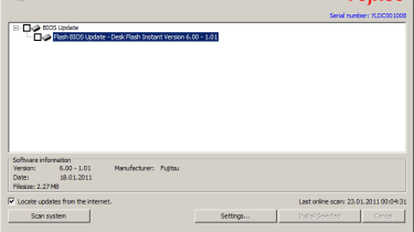 The DeskUpdate tool is more useful as it makes light work of BIOS updates.