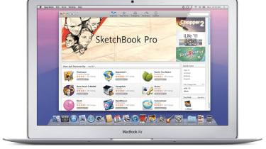 The Mac App Store running under MacOS X Lion