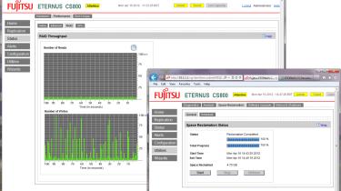 Fujitsu CS800 - RAID array throughput