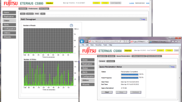 Fujitsu CS800 - RAID array throughput