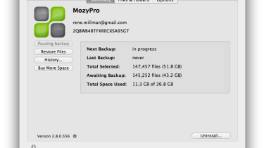 MozyPro screenshot