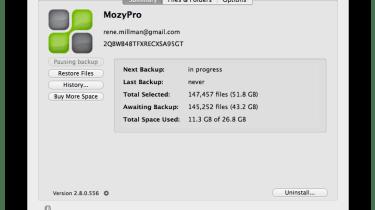 MozyPro screenshot