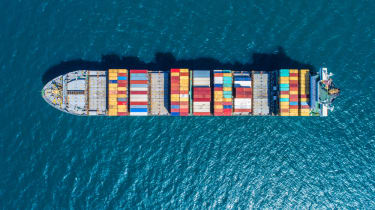 Ship full of containers