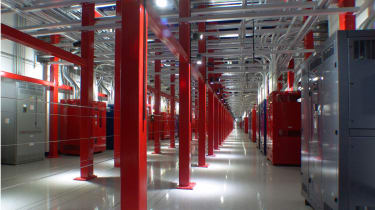 The 'spine' of the redundant power distribution network at SuperNAP.
