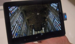 Video looks great on the 7.7in Super AMOLED screen.