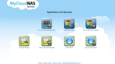 Users go to the hosted MyCloudNAS web site and enter their hostname to remotely access services on the appliance.