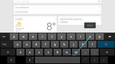 Google Nexus 10 - Swype