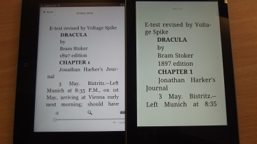 iPad vs Nexus - Text