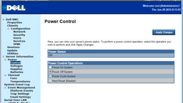 Dell PowerEdge C6220 - Power controls
