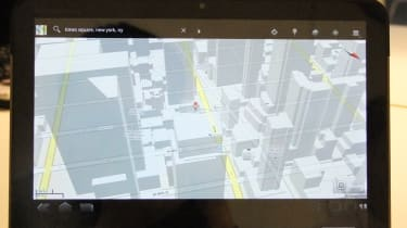 3D Google Maps in Android 3.0 Honeycomb on the Motorola Xoom