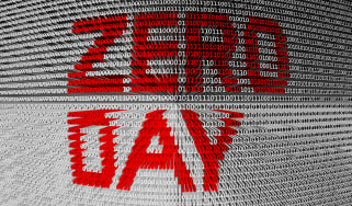 """""""ZERO DAY"""" in red on a white background"""