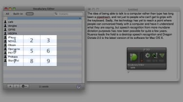 """Dragon Dictate 2.0 offers full control over Mac OS X too, along with voice-controlled mouse movement, either by """"move mouse l"""