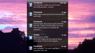 New notifications system queued up on the lock screen in iOS 5.