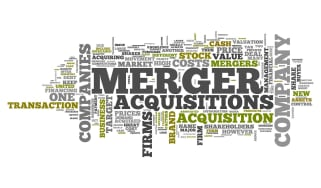 Acquisition and merger sign