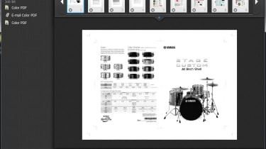 Previewing scanned pages on the Canon ImageFormula DR-C125.